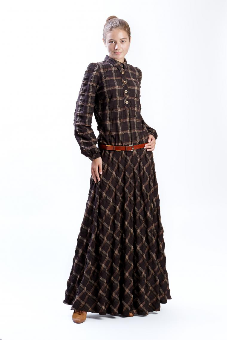 Платье с заниженной талией в пол