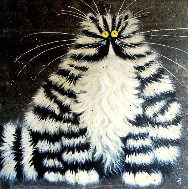 Как рисовать смешных кошек