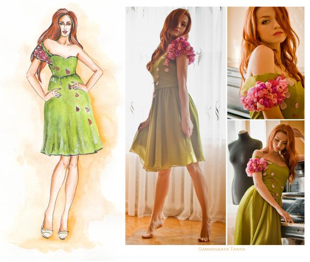 дизайнерская одежда, коктейльное платье