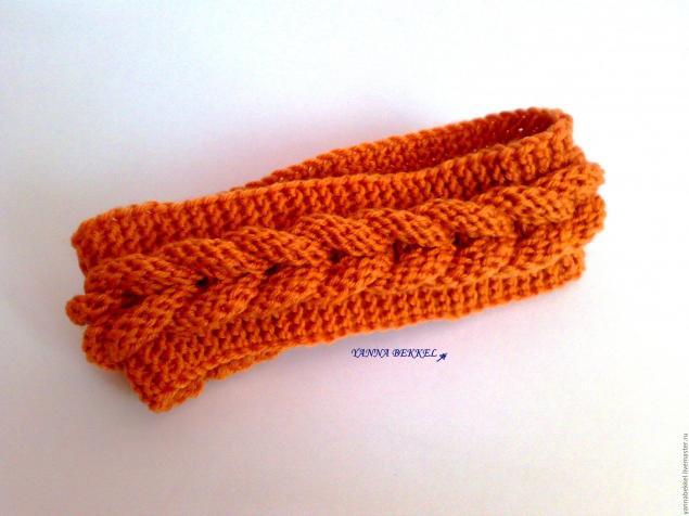 Вязание косы на голове