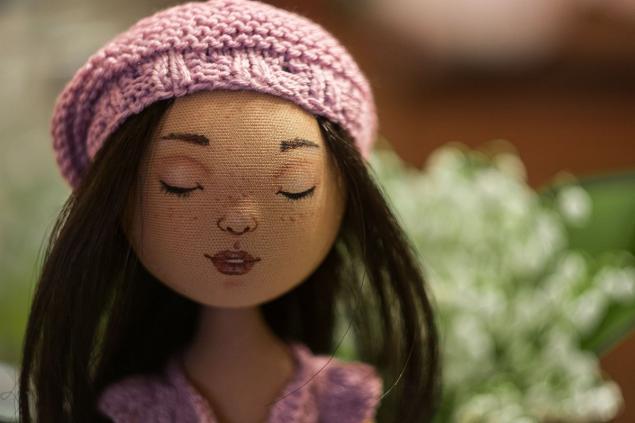 текстильная кукла, куколка, берет, алена никонова