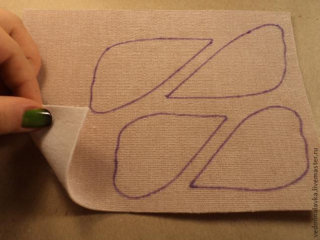 Текстильная брошь-мотылек, фото № 4