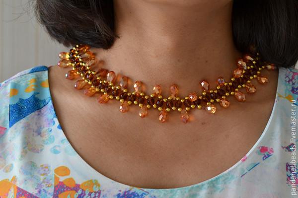 Ожерелье с бусинами своими руками фото 842