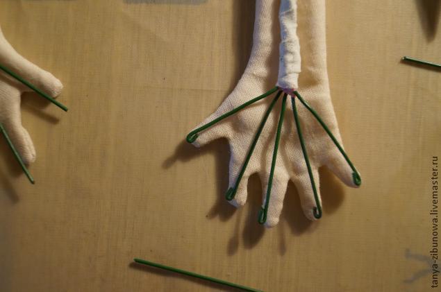 Как сделать каркас для текстильной куклы
