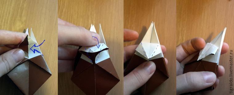 Оригами: пасхальная курочка, фото № 10