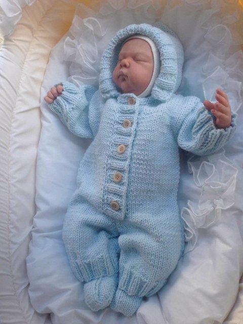 Комбинезон для новорожденных вязание