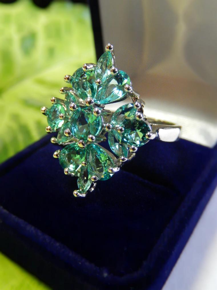 аукцион, аукцион с нуля, аукцион на украшения, кольцо из серебра, аквамарин, серебряные украшения, красивое украшение, яркий, роскошный подарок, подарок женщине