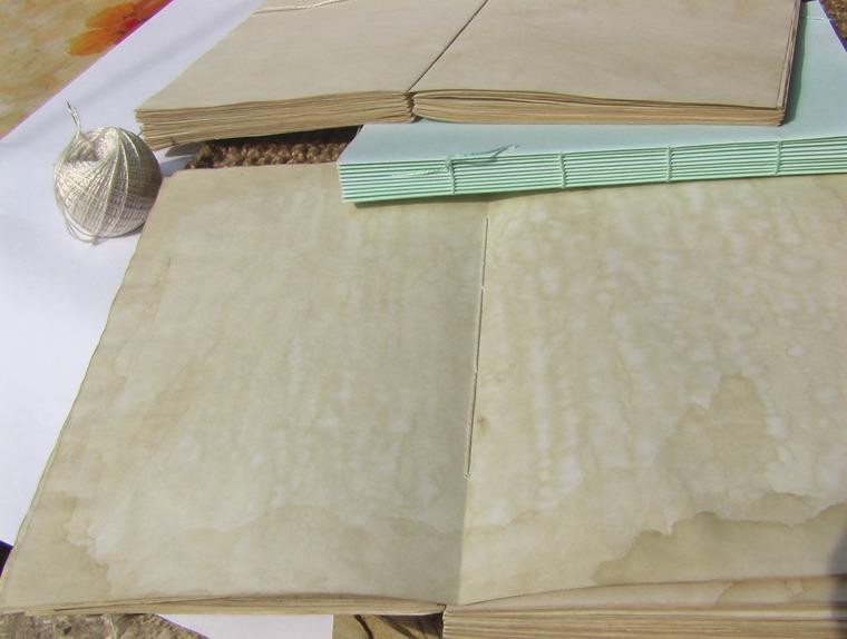 блокнот с нуля, цветная бумага, тонировка ручной работы