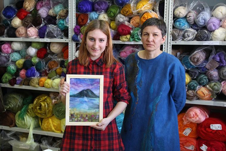 Отчет о мастер-классе Елены Панасик по живописи шерстью 19 марта, фото № 6