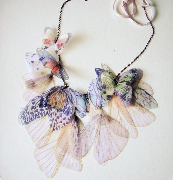 Fluttery Дыхание Жизни Ожерелье-тонах, на заказ-