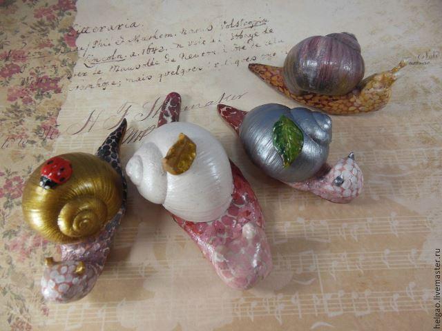улитка сувенир, улитка в подарок, сувенир в подарок, фигурка из глины, улитка фигурка сувенир, изделия из кожи