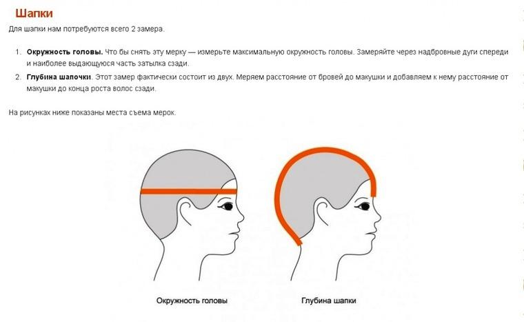 Мерки головы для вязания шапки 5