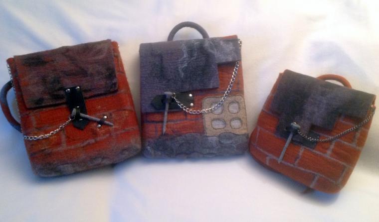 b8eb9c3c746b сумка из шерсти, сумка ручной работы, рюкзак, рюкзак ручной работы, мокрое  авляние