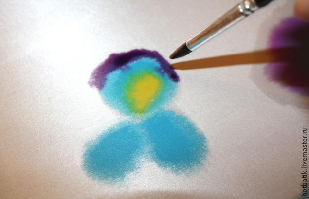 урок росписи по шелку