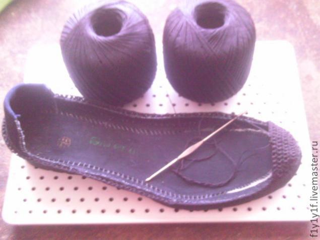 пошаговое вязание сапожек на твердой подошве мастер класс для