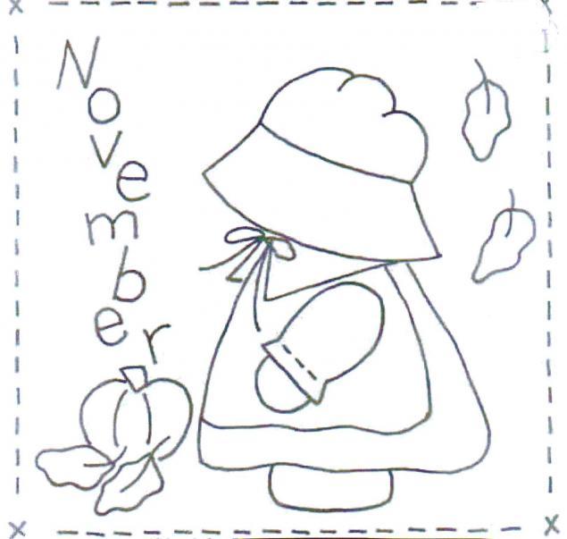 календарь, осень