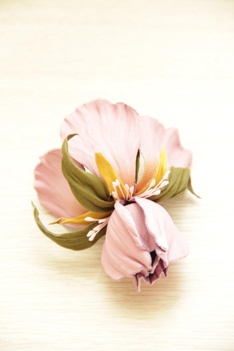 мастер-класс по цветам, кожаная флористика, цветок из кожи