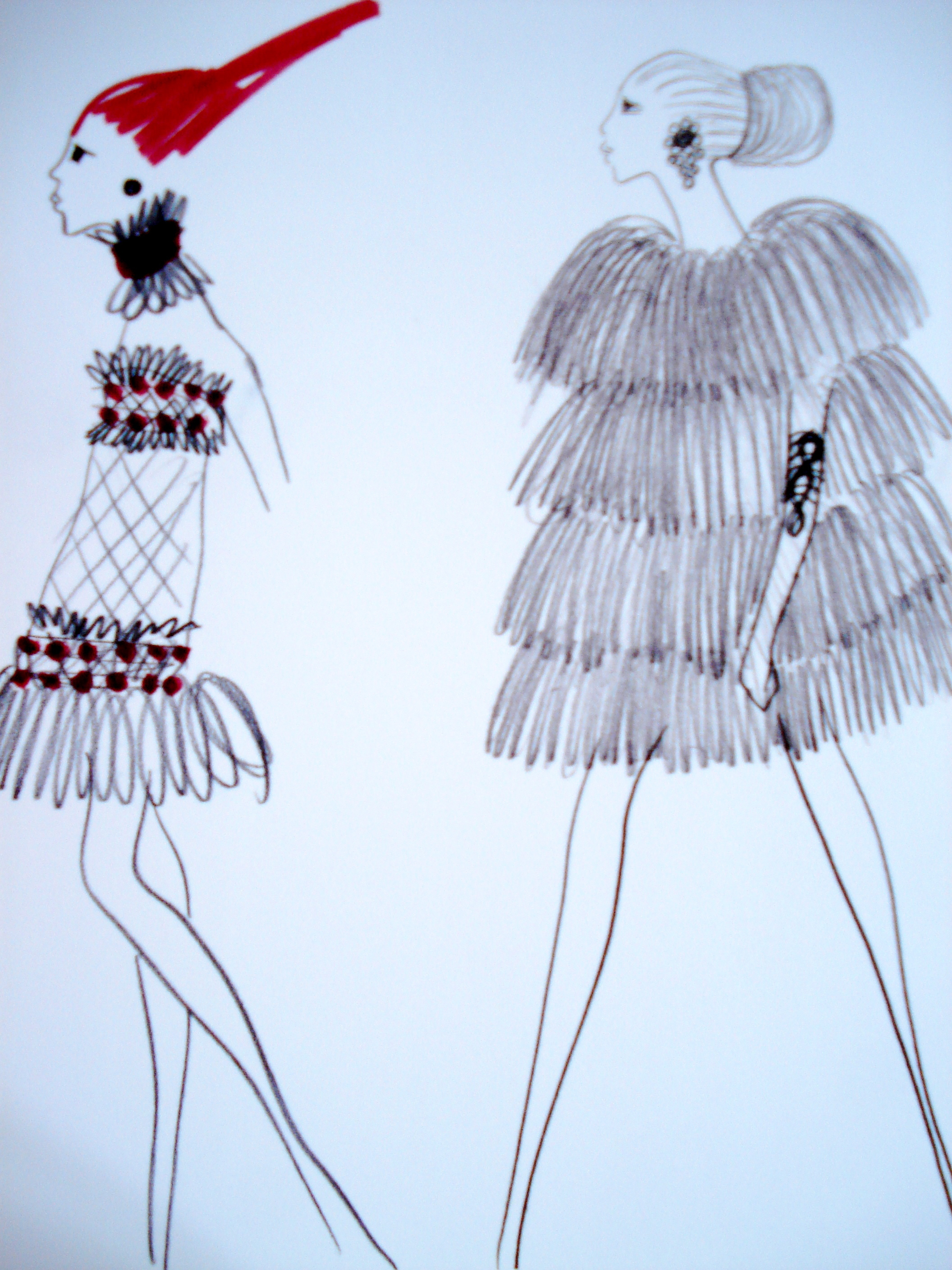 Drawing - Inspiration Bambara - Collection Haute Couture Spring-Summer 1967