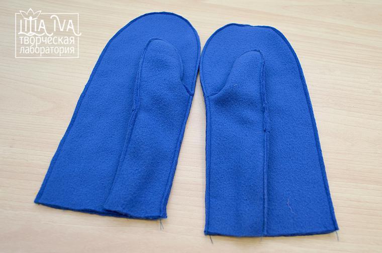 как сшить рукавички