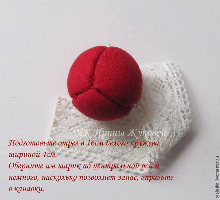 Делаем новогодние шары «Зимняя вишня», фото № 9