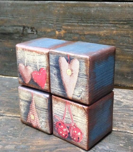 Набор интерьерных кубиков - прекрасный новогодний подарок! Новинка нашей студии!, фото № 10