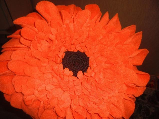 цветы подушки