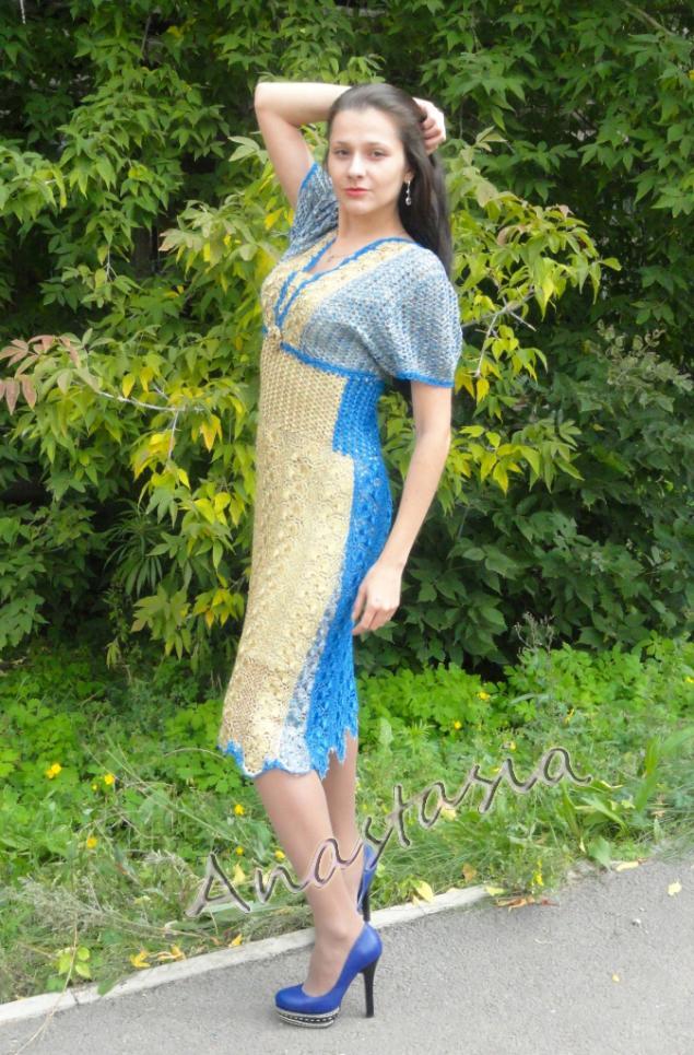 вязаные платья, фиолетовый