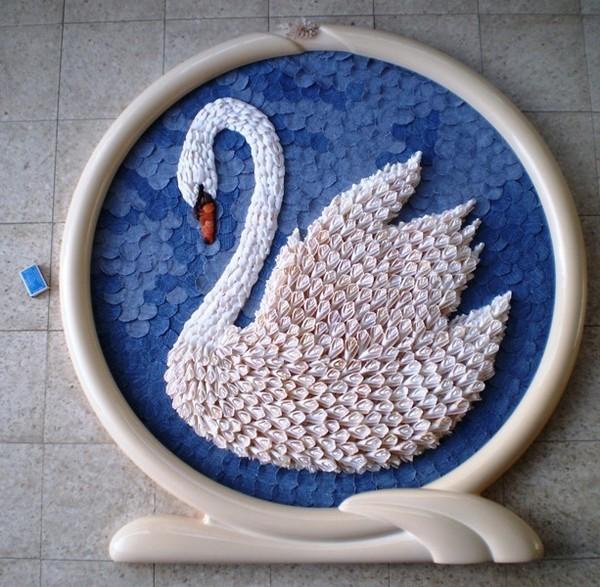 Лебеди из ракушек своими руками мастер класс
