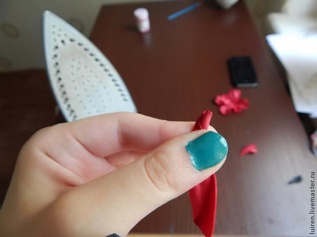 Реалистичная роза из фоамирана своими руками, фото № 11