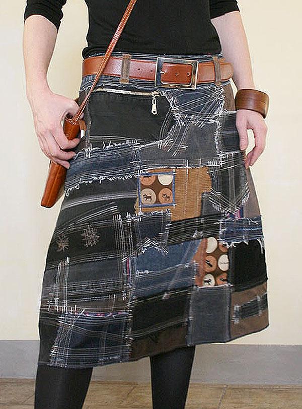 Юбка из старых джинсов мастер класс