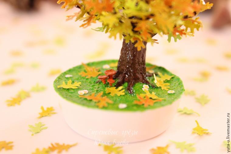 Поделка золотая осень дерево