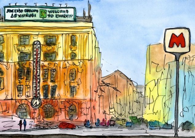 Путешествуем с Михаилом Щербаковым (Vokabre): быстрые зарисовки акварелью, фото № 37