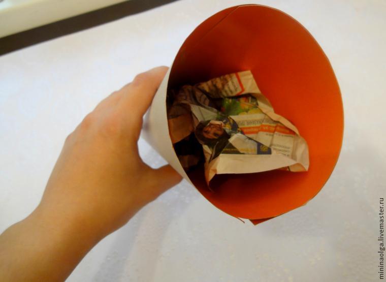 Новогодняя елочка из бумажных салфеток своими руками, фото № 7