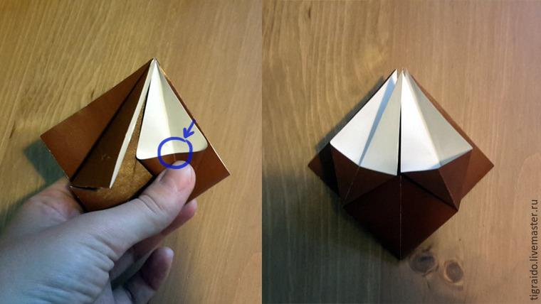 Оригами: пасхальная курочка, фото № 6