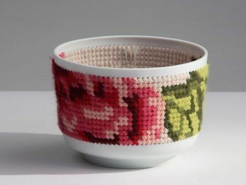 Cross stitch bowl