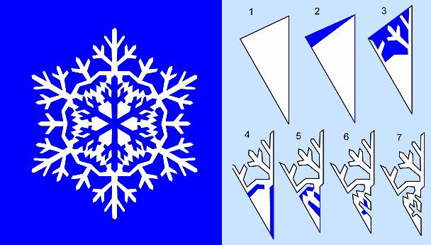 схемы снежинок из бумаги