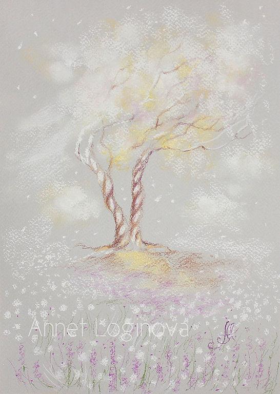 весна, нежные картины, деревья