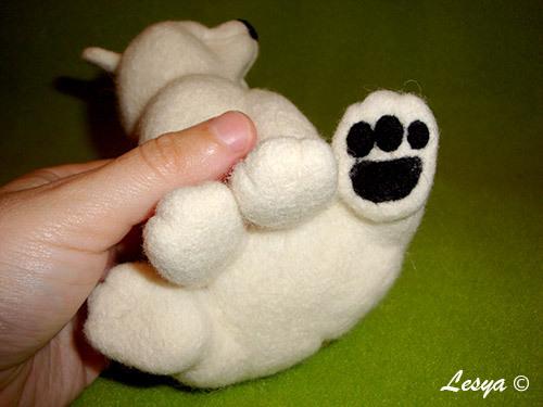 Мастер-класс по валянию игрушки медвежонка этап 53