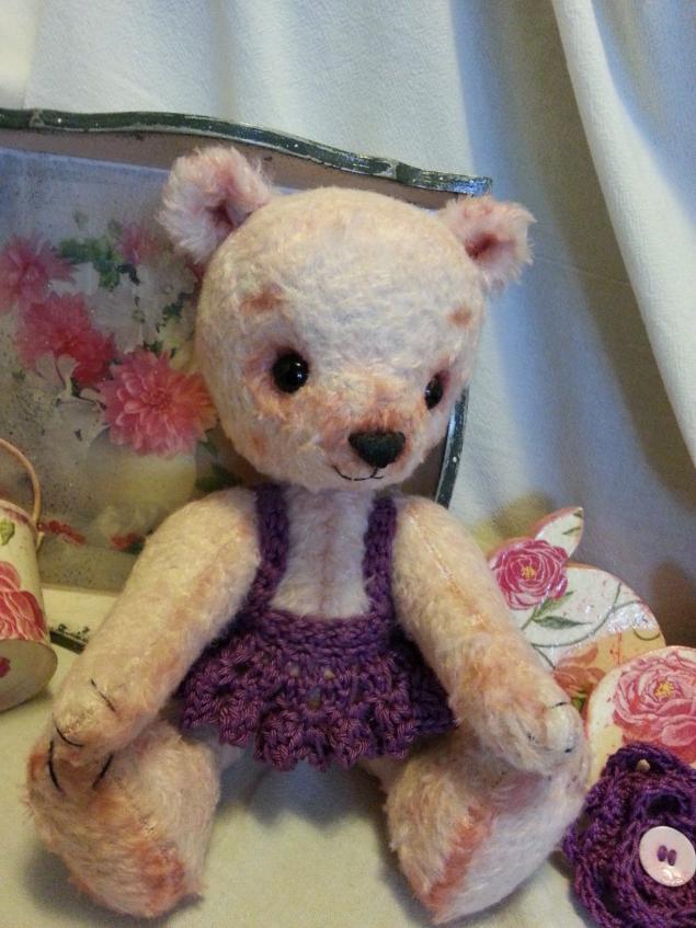 мишка тедди, мишка, мастер-класс, подарок, авторская игрушка, розовый