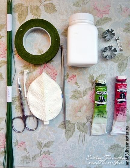Лепим веточку сакуры из полимерной глины, фото № 1