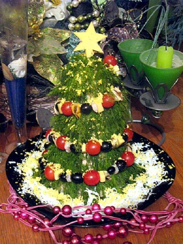 Новогодние украшения блюд своими руками фото