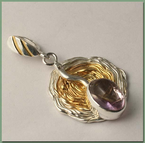 аукцион, аукцион на украшения, серебро 925 пробы, аметрин натуральный, кулон с аметрином, серебряный