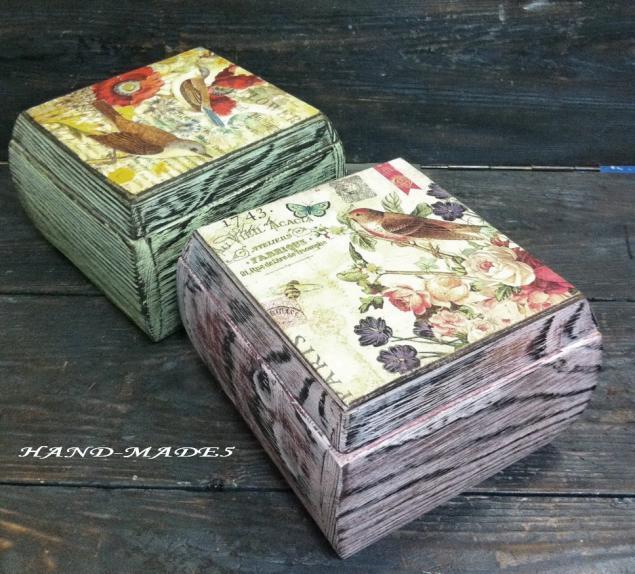 Очень красивые шкатулки! Брашировка+декупаж! Уникальная техника от Марины Жуковой!, фото № 2