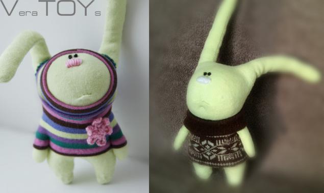 заяц, игрушки ручной работы, кролик, детям, подарок