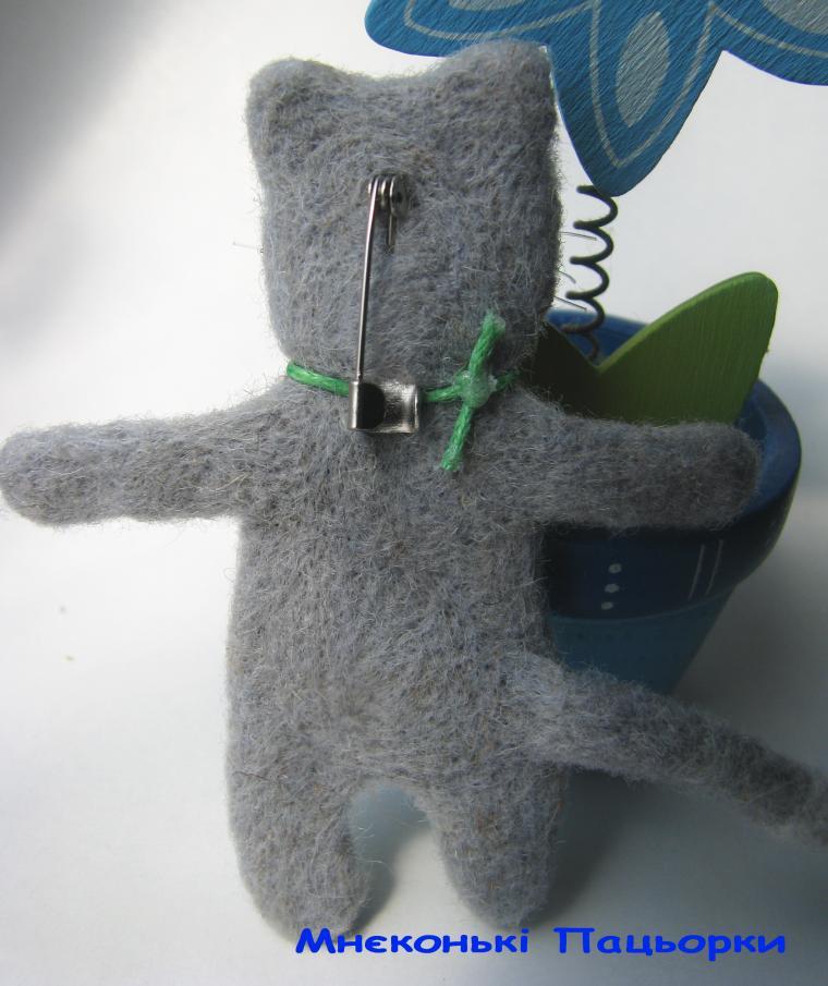 котенок из шерсти, украшения ручной работы