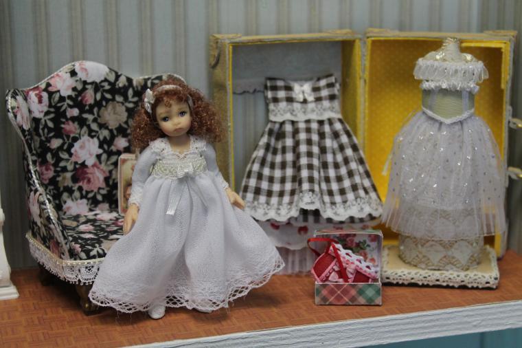 миниатюра, куклы-дети, кукольный дом