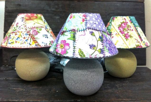 Декупажный пэчворк - имитируем лоскутное шитье! Делаем уникальную лампу!, фото № 4