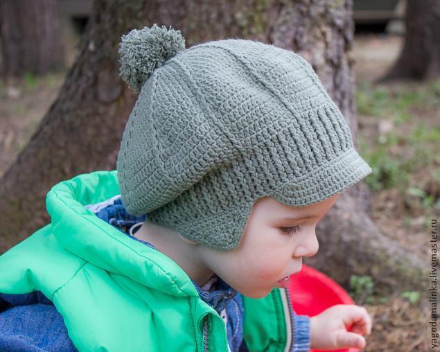 кепка крючком, кепка для мальчика