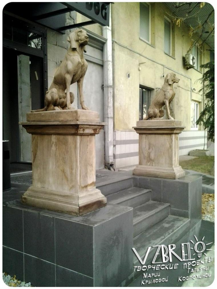 дизайн, современный дизайн, скульптура, дерево, город, улица, ресторан