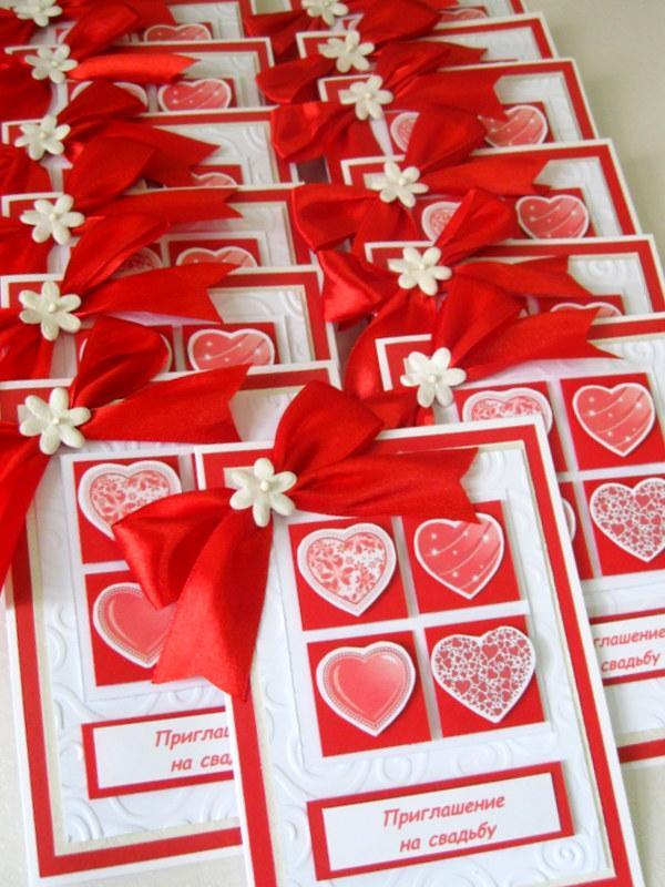 Поздравление на свадьбу в красном цвете